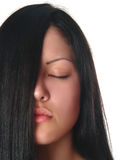 Woman with closed eyes Stock Images