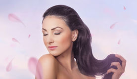 Woman with closed eyes Royalty Free Stock Image