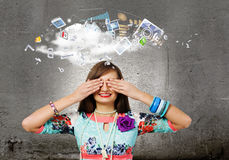 Woman with closed eyes Royalty Free Stock Photo