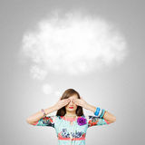 Woman with closed eyes Royalty Free Stock Images