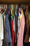 Woman closet. Inside woman's closet royalty free stock image