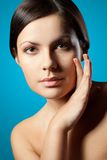 Woman closeup face Royalty Free Stock Image