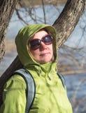 Woman closeup in sunglasses Stock Photos