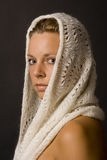 Woman with cloth Stock Image