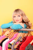 woman with  clothes Royalty Free Stock Photos