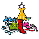 Woman clothes and accessories Stock Photo