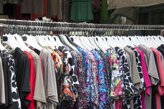 Woman clothes on hangers Stock Photography