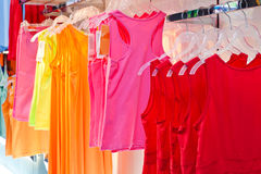 Woman clothes hanging on the hanger Royalty Free Stock Photography