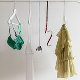 Woman clothes hanging Royalty Free Stock Photo