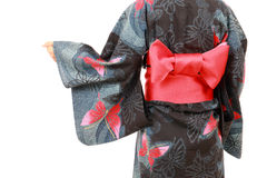 Woman in clothes of kimono Stock Image