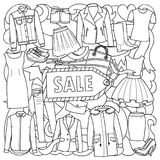 Woman Clothes Sale Pattern Stock Image