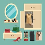 Woman Clothes Set Stock Image