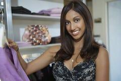 Woman At Clothes Shop Royalty Free Stock Photo