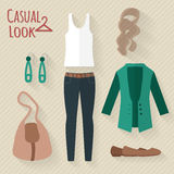 Woman clothing set. Royalty Free Stock Images