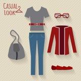 Woman clothing set. Stock Photos