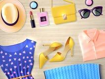 Woman Clothing Set Flat Illustration Stock Photography