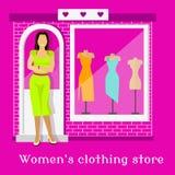 Woman Clothing Urban Store Design Stock Image