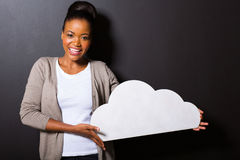 Woman cloud shape Royalty Free Stock Photo