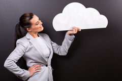 Woman cloud shape Royalty Free Stock Image