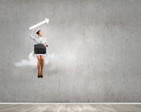 Woman on cloud Royalty Free Stock Images