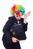 Woman clown businesswoman Royalty Free Stock Photography