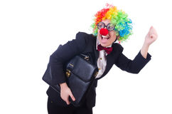 Woman clown businesswoman Royalty Free Stock Photo
