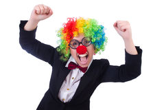 Woman clown businesswoman Royalty Free Stock Image