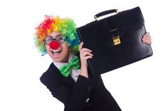 Woman clown businesswoman Stock Photos