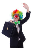 Woman clown businesswoman Stock Image