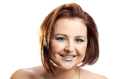 Woman with clown make-up Royalty Free Stock Photo