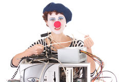 Woman With Clown Makeup Stock Photography