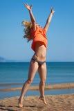 Woman&coast-21 Lizenzfreie Stockfotos