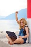 Woman&coast Lizenzfreies Stockbild