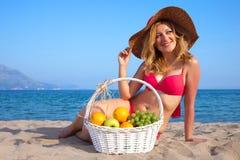 Woman&coast Immagine Stock