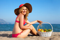 Woman&coast-98 Royalty Free Stock Image