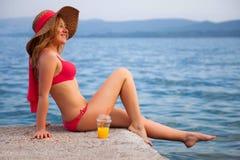 Woman&coast-80 Stock Images