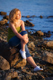 Woman&coast-35 Stock Image