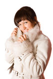 Woman in coat Royalty Free Stock Photos