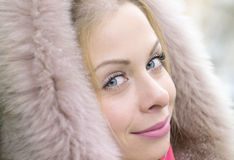 Woman in coat Stock Image