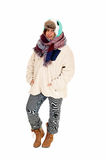 Woman in coat and scarf. Royalty Free Stock Photo