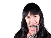 Woman with Coats. A woman with coats and neckerchief in winter Royalty Free Stock Photos