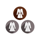 Woman coats vector icon set. Royalty Free Stock Images