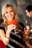 Woman with a cocktail Royalty Free Stock Image