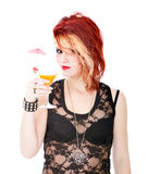 Woman cocktail Royalty Free Stock Images