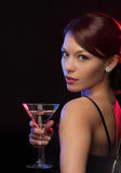 Woman with cocktail Royalty Free Stock Photos