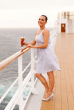 Woman cocktail cruise Royalty Free Stock Photo
