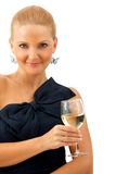 Woman in a cocktail dress Stock Photography