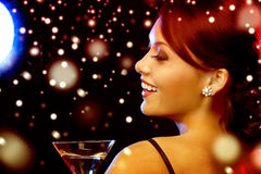 Woman with cocktail Stock Photography
