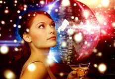 Woman with cocktail Royalty Free Stock Photography