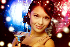 Woman with cocktail Stock Photo